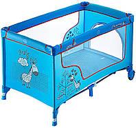 622959 Манеж-кровать Quatro Giraffe P610SR blue, фото 1