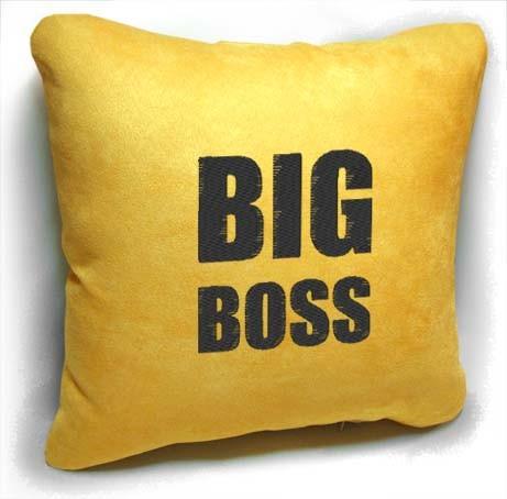 """Подарочная подушка """"Big boss!"""""""