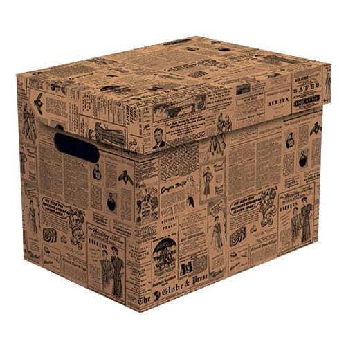 Ящик для хранения картонный ONE, газета