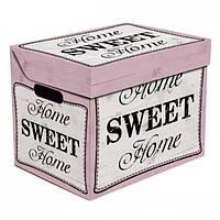 Ящик для хранения картонный ONE SWEET HOME, розовый