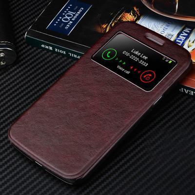 """Samsung i9500 S4 GALAXY SMART чехол книжка  НАТУРАЛЬНАЯ ТЕЛЯЧЬЯ КОЖА  для телефона  """"LUKE LEE"""""""