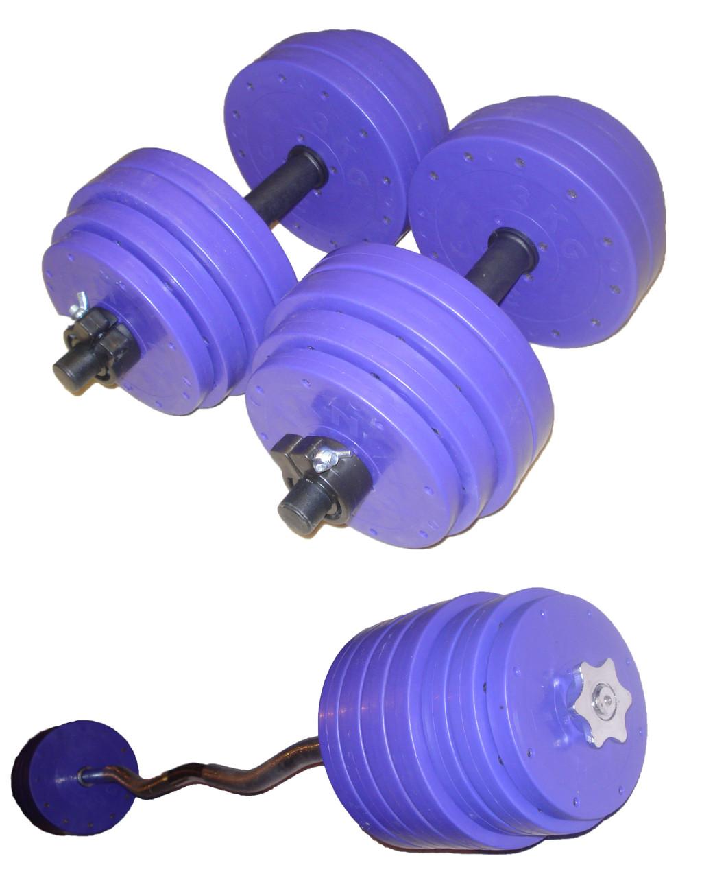 """Набор """"Титан"""" 43 кг (W-гриф)"""