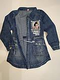 Кардиган джинсовый на девочек 110-140 р  арт 7741, фото 2
