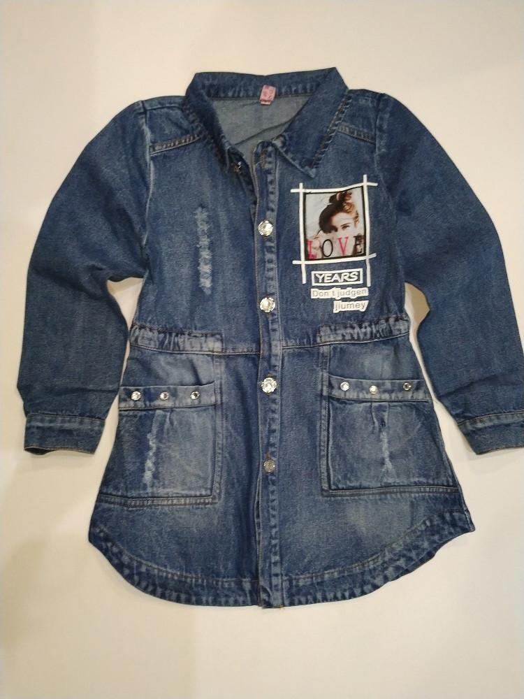 Кардиган джинсовый на девочек 110-140 р  арт 7741