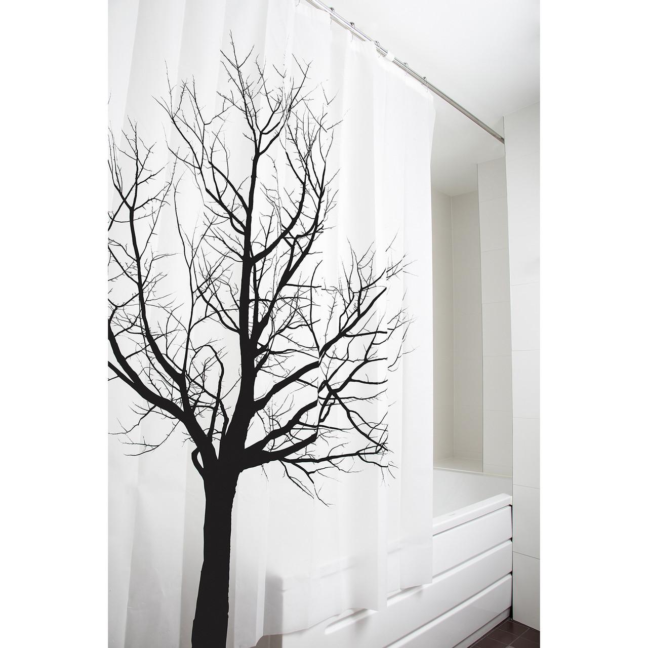 Штора для ванной комнаты Tatkraft 180 х 180 см Дерево 17351, КОД: 166750