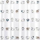 Штора для ванной комнаты Tatkraft 180 х 180 см Веселые Овечки 14862, КОД: 166756, фото 2