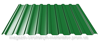 Профнастил стеновой Оцинкованная сталь Мариуполь С-10 высота волны 10 мм толщина листа 0,65 мм ширина листа