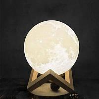 Светильник Луна 3D Moon Light 15 см диаметр сенсорный 5 режимов, Ночник