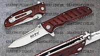 """Нож складной E-111 """"Grand Way"""" из стали 8Cr13MoV (Рукоять: красное дерево. Материал чехла: ткань+коробка)"""