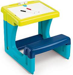 Пластиковая двусторонняя парта-доска Школьник Smoby, Blue 3+ (420101)
