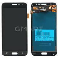 Original дисплей Samsung J320F Galaxy J3 2016 черный (LCD экран, тачскрин, стекло в сборе)