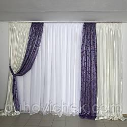 Комплект штор для гостиной модный