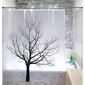 Штора для ванной комнаты Tatkraft 180 х 180 см Дерево 17351, КОД: 166750, фото 2