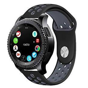 Ремешок BeWatch sport-style 22 мм для смарт-часов Samsung Gear S3 Черно-серый 1020114, КОД: 179499, фото 2