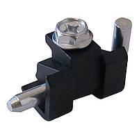 Петля кутова RZ H230.1.2.1, чорна, Zn сплав, для металевих сіт. меблів