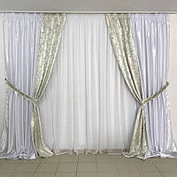 Комплект плотных штор для зала , фото 1