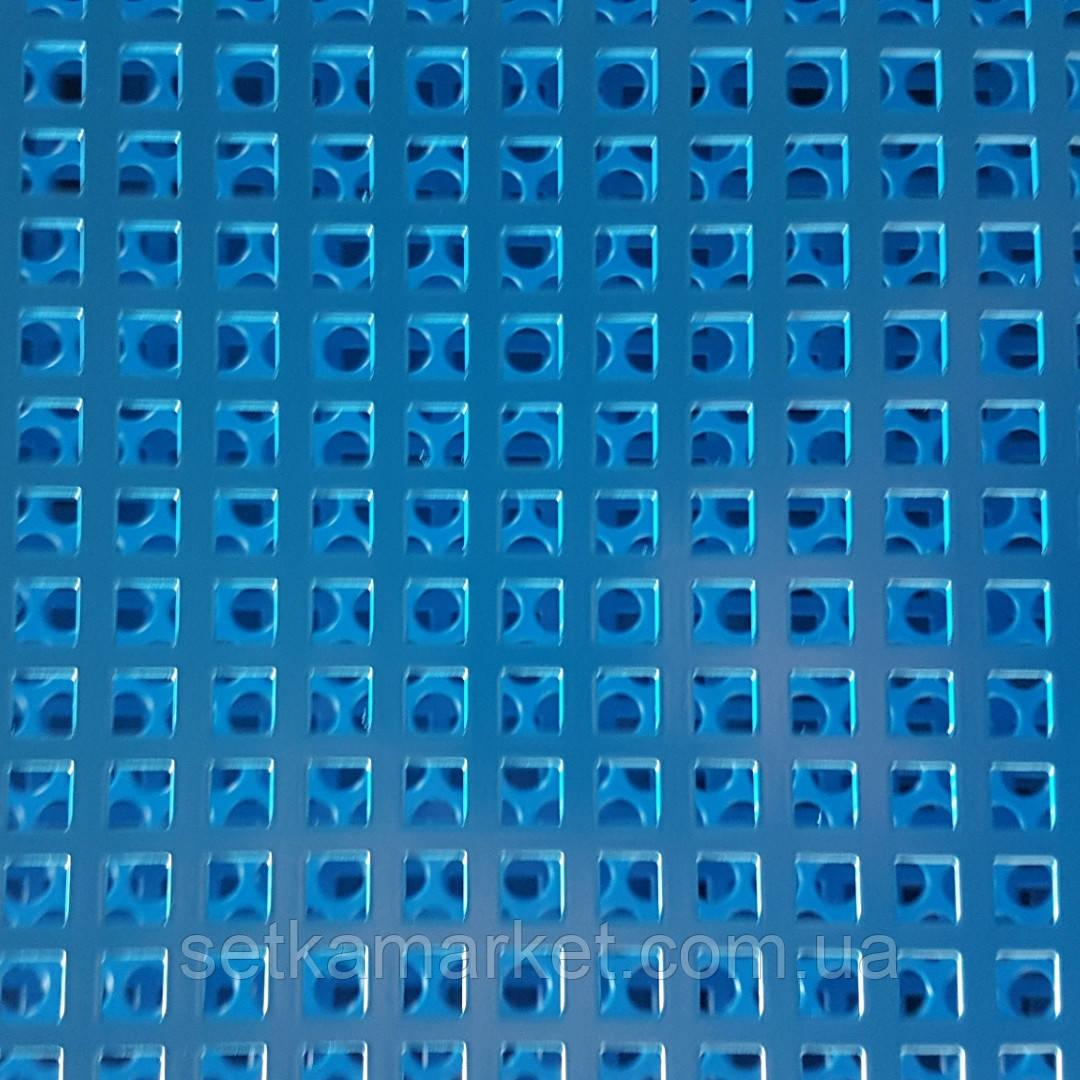 Перфорована панель, 1×2 м, металева, 8×8, крок 12 мм., посилена, в рамці