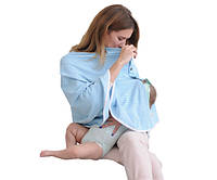 707202 Накидка для кормления ребенка Голубая в полоску