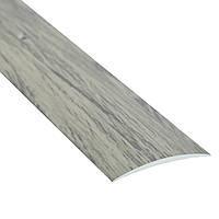 Алюминиевый профиль декоративный одноуровневый гладкий 40мм х 0.9м дуб испанский