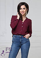 Женская блуза бордового цвета