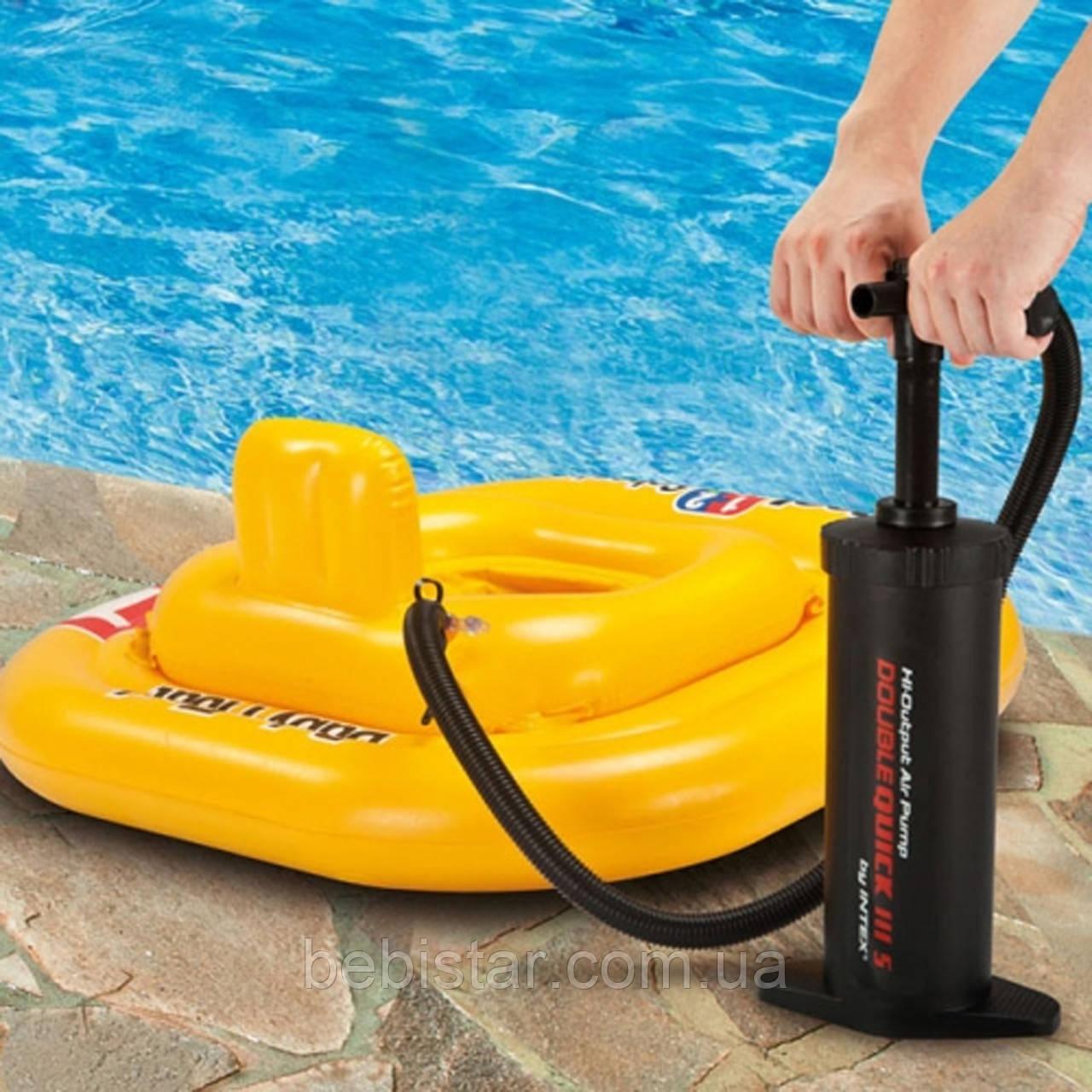 Ручной насос Intex 37 см для накачивания бассейнов, надувных кроватей, детских игрушек и мячей