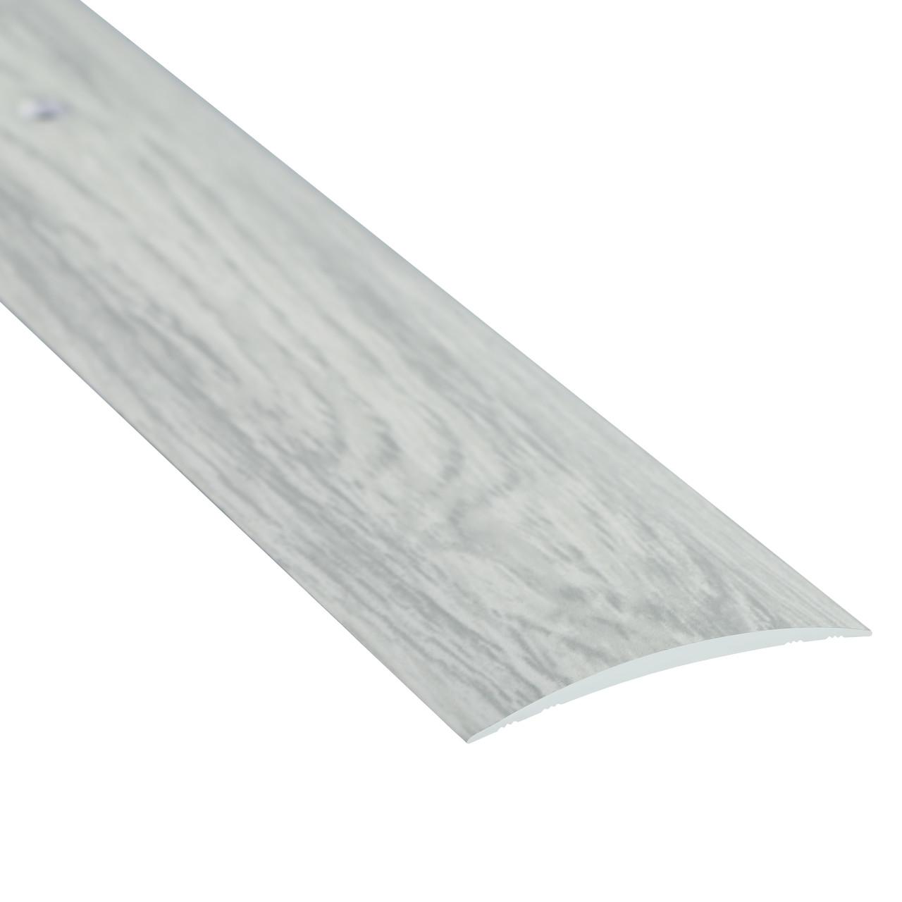 Алюминиевый профиль декоративный одноуровневый гладкий 40мм х 2.7м дуб снежный