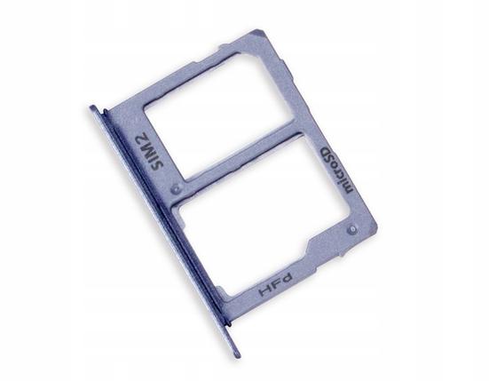 Слот Sim 2 / MicroSD лоток Samsung A6 2018/ A6 Plus 2018 Blue, GH64-06815C, фото 2