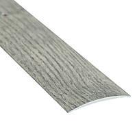 Алюминиевый профиль декоративный одноуровневый гладкий 40мм х 2.7м дуб дымчатый