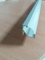 Угловой алюминиевый LED профиль ЛПУ-17 анод + линза рассеиватель