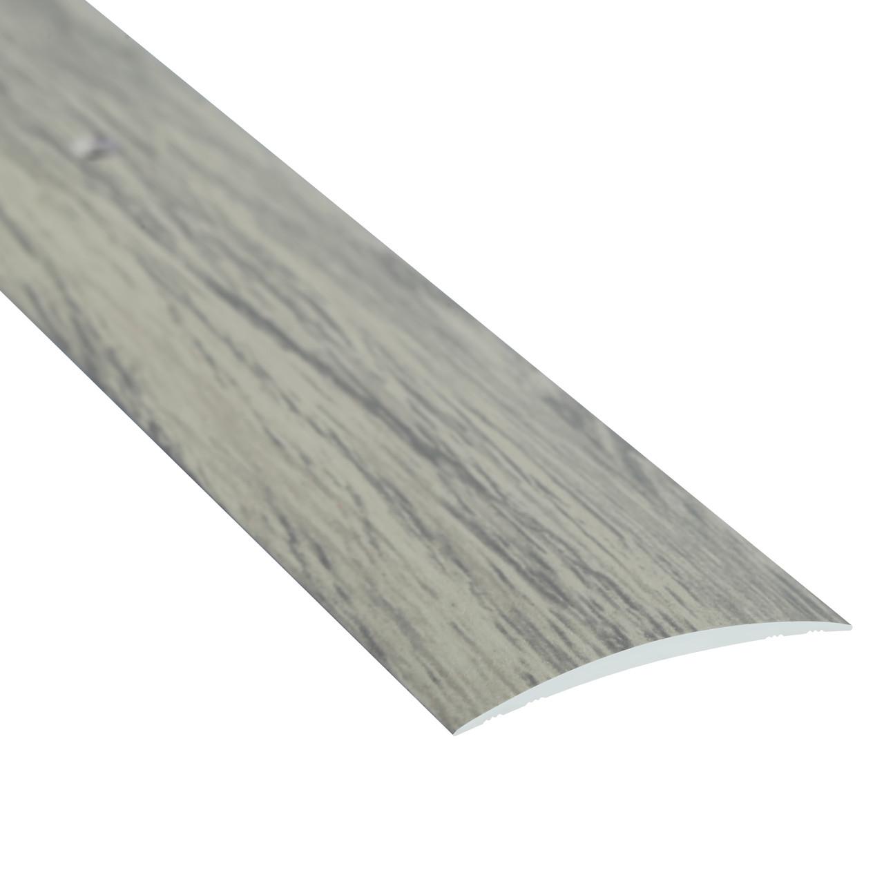 Алюминиевый профиль декоративный одноуровневый гладкий 40мм х 2.7м дуб испанский