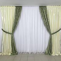 Комплект шторы и тюль заказать в интернет магазине