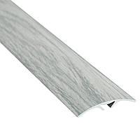 Алюминиевый профиль декоративный одноуровневый гладкий с системой скрытого крепления 40мм х 2.7м дуб снежный