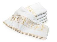 Крестильное Велюровое Полотенце Размер 70 х 140 см В Упаковке 6 шт, фото 1
