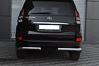 Toyota Land Cruiser Prado 120 (02-09) задняя защита углы
