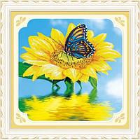 """""""Бабочка на цветке"""" Набор для рисования камнями"""