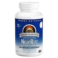 Комплекс для Нормализации Сна, NightRest, Source Naturals, 50 таблеток