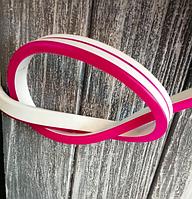 Светодиодный неон 12V 9Вт 120LED/м, розовый IP65, в цветной оболочке