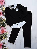 """Школьный костюм подростковый для девочки от 8 до 12 лет """"School"""", чёрного цвета"""