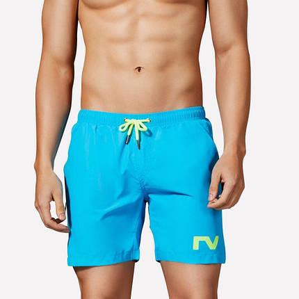 Мужские Шорты Tauwell для купания Синие, пляжные (Сетка, карманы) \чоловічі шорти плавання купання сині, фото 2