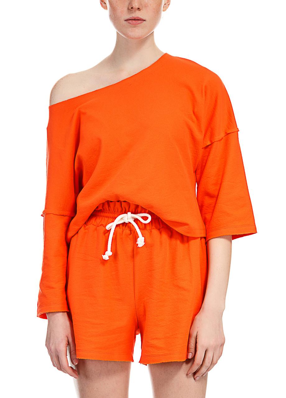 Футболка женская Synthia оранжевого цвета