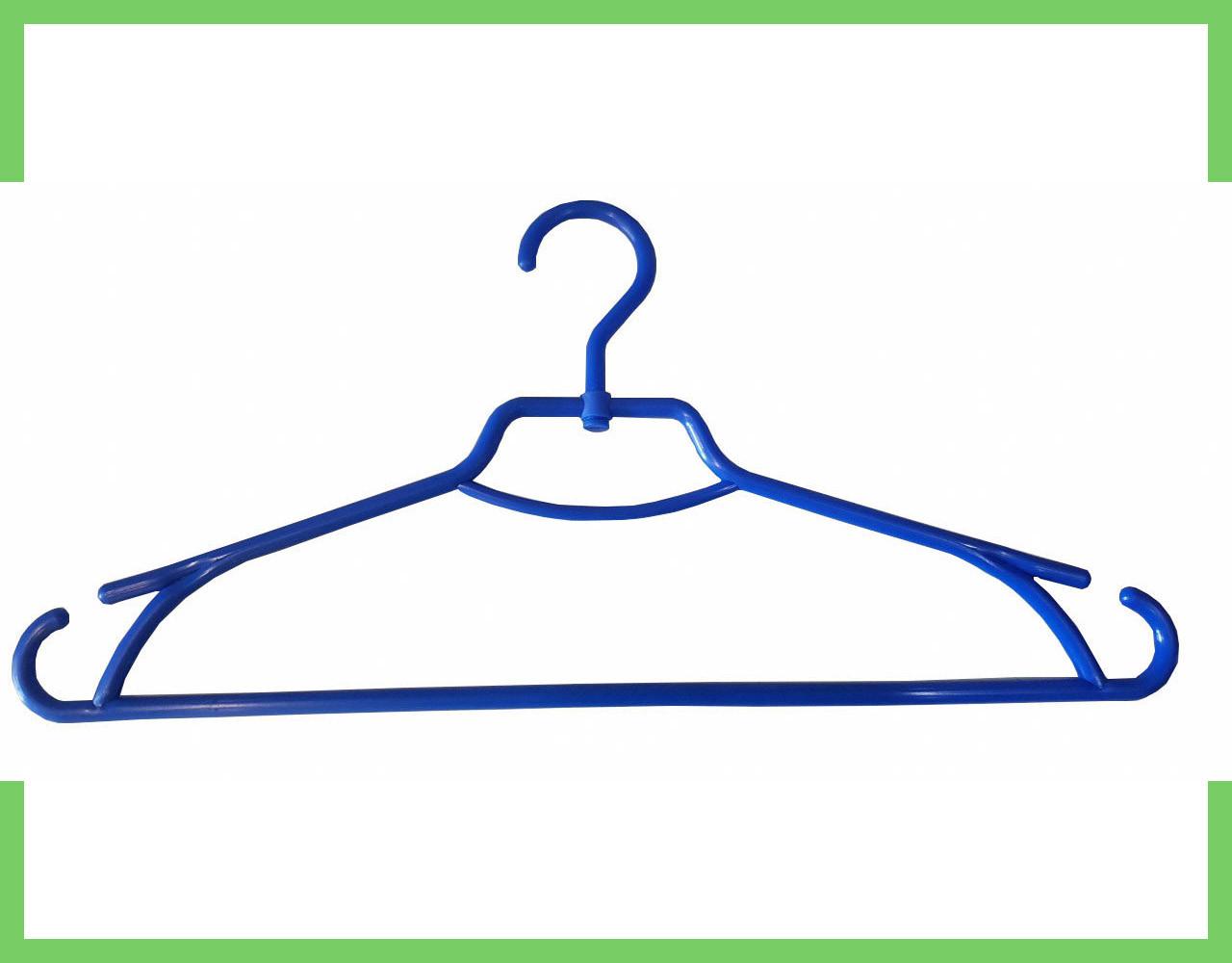 """Плечики вешалки пластмассовые для одежды """"Лиза"""" Украина 43 см (синяя)"""