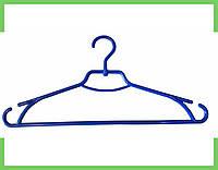 """Плечики вешалки пластмассовые для одежды """"Лиза"""" Украина 43 см (синяя), фото 1"""