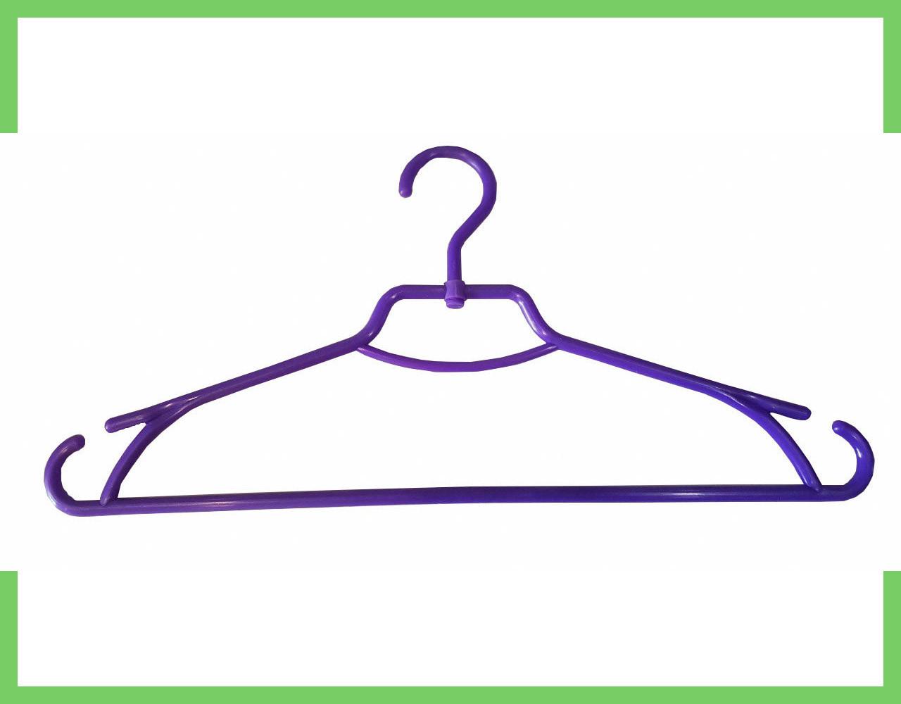 """Плечики вешалки пластмассовые для одежды """"Лиза"""" Украина 43 см (фиолетовая)"""