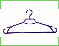 """Плечики вешалки пластмассовые для одежды """"Лиза"""" Украина 43 см (фиолетовая), фото 1"""
