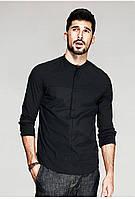 Стильная мужская рубашка черного цвета
