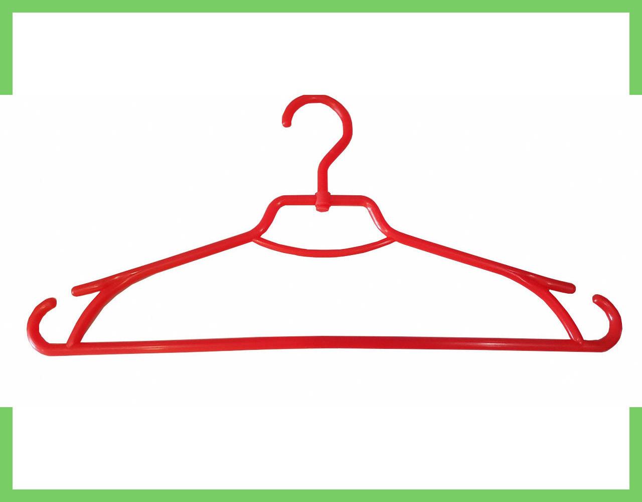 """Плечики вешалки пластиковые для одежды """"Лиза"""" Украина 43 см (красная)"""