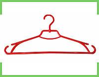 """Плечики вешалки пластиковые для одежды """"Лиза"""" Украина 43 см (красная), фото 1"""