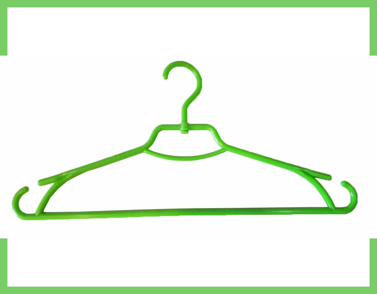 """Плечики вешалки пластмассовые для одежды """"Лиза"""" Украина 43 см (салатовая)"""
