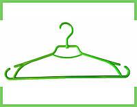 """Плечики вешалки пластмассовые для одежды """"Лиза"""" Украина 43 см (салатовая), фото 1"""