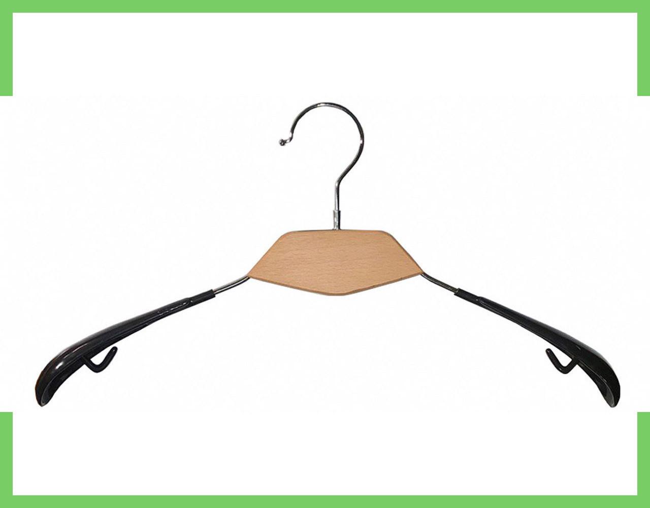 Плечики вешалки для одежды с  Деревянной вставкой  А-38